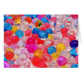 texture jelly balls card