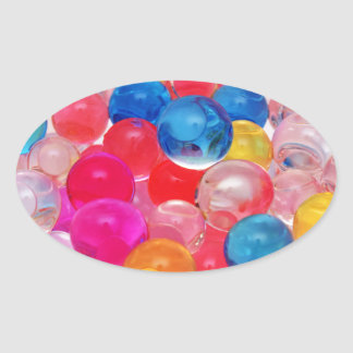 texture jelly balls oval sticker