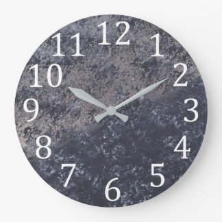Texture Look Light Dark Gray Black Wall Clocks