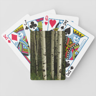 Texture Of A Forest Portrait Bicycle Playing Cards