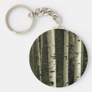Texture Of A Forest Portrait Keychain