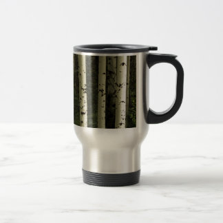 Texture Of A Forest Portrait Travel Mug
