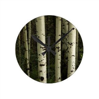 Texture Of A Forest Portrait Wallclock