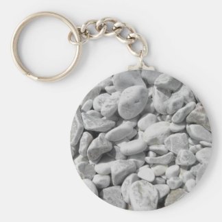 Texture of pebbles from a beach shore basic round button keychain