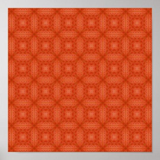 Texture orange wood pattern poster