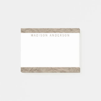 Texture Paper | Minimalist Modern Personalized Post-it Notes