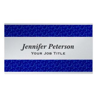 Texture professionnelle de l'eau bleue carte de visite standard