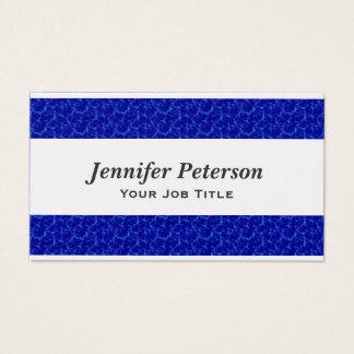 Texture professionnelle de l'eau bleue cartes de visite