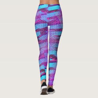 texture purple leggings