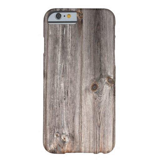 Texture rustique en bois de Faux Coque iPhone 6 Barely There