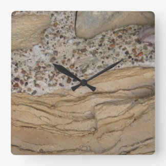 """Texture…Stone"" Square Wall Clock"