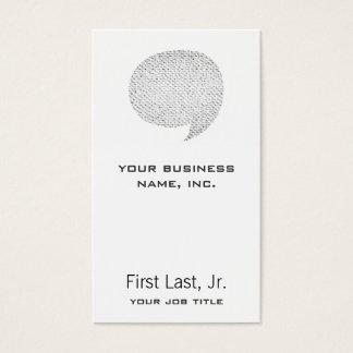 Texture Style Comic Speech Bubble Business Card