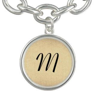Texture with Monogram Bracelet