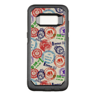 Texture with real stamps. OtterBox commuter samsung galaxy s8 case