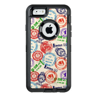 Texture with real stamps. OtterBox iPhone 6/6s case