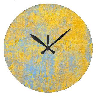 texture yellow large clock