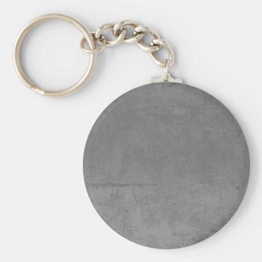 textured24 GRAY GREY CONCRETE TEXTURED BACKGROUND Keychain