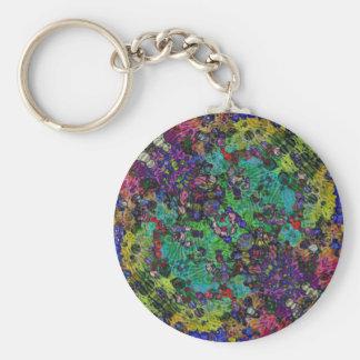 Textured Abstract Keychain