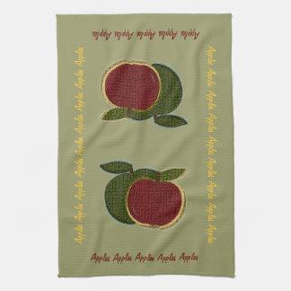 Textured Apples (sage) Towel
