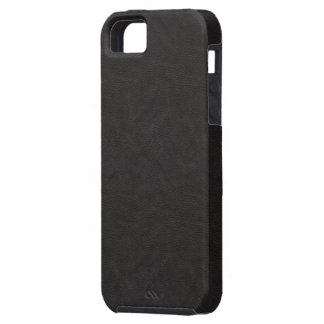 Textured Black Leather 2 iPhone 5 Case