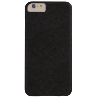 Textured Black Leather Barely There iPhone 6 Plus Case