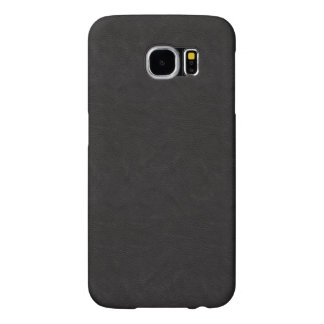 Textured Black Leather Samsung Galaxy S6 Cases
