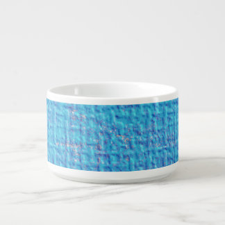 Textured Blue & Purple Abstract Chili Bowl
