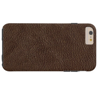 Textured Brown Leather Tough iPhone 6 Plus Case
