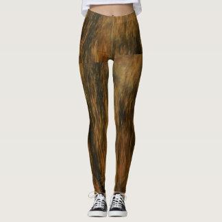 textured brown leggings