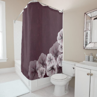 Textured Burgundy with Flowers
