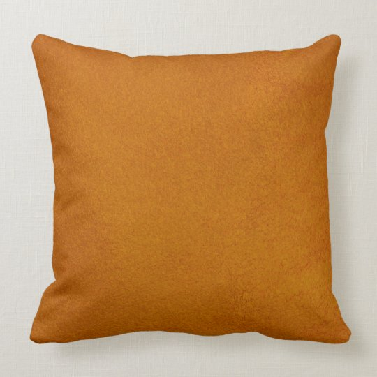 Textured Burnt Orange Throw Pillow