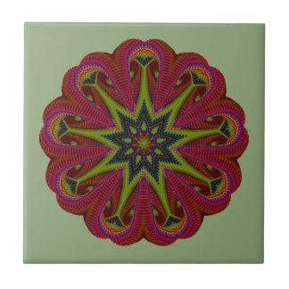 Textured Christmas Mandala Star Tile