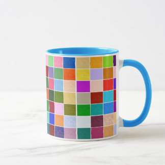 Textured Color Squares Mug
