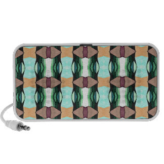 Textured Colorful Pattern Mp3 Speaker