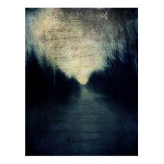 Textured Evening Abstract Postcard