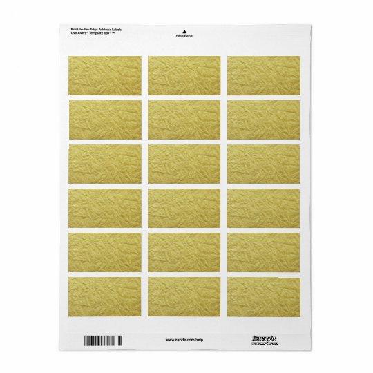 Textured Faux Gold Foil Background Label