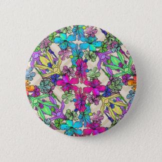 Textured Flower Art 2 Inch Round Button