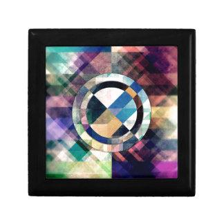 Textured Geometric Shapes Keepsake Boxes