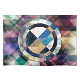 Textured Geometric Shapes Placemat
