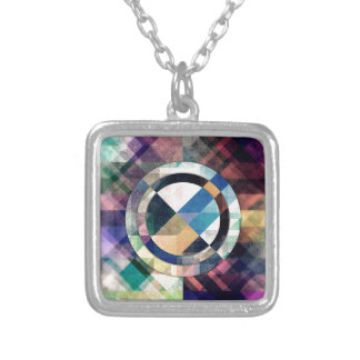 Textured Geometric Shapes Silver Plated Necklace
