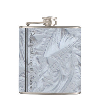 Textured Glass GRANDFATHER OF THE GROOM Hip Flask