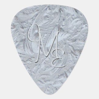 Textured Glass Monogrammed Guitar Pick