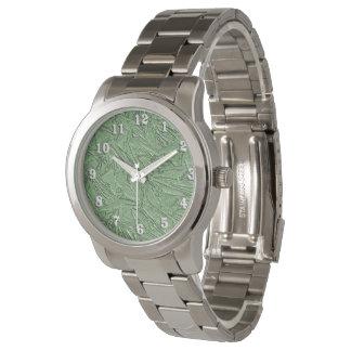 Textured Green Foil Design Watch