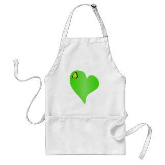 Textured Green Heart Standard Apron