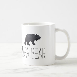 Textured Grey Bear Coffee Mug