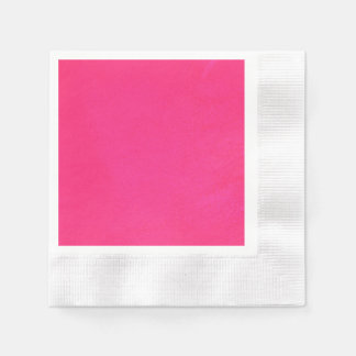 Textured Hot Pink Paper Napkin