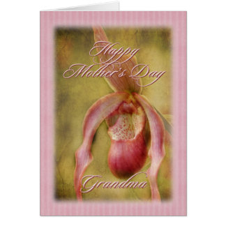 Textured Lady Slipper Orchid Mother's Day Card