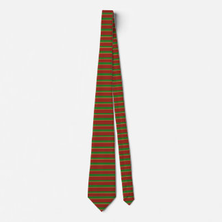 textured look green and red, smaller stripe tie