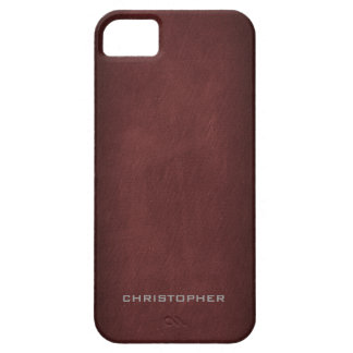 Textured Look with Upscale Manly Design iPhone 5 Case