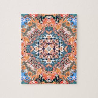 Textured Mandala Pattern Jigsaw Puzzle
